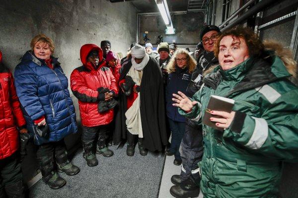 Erna Solberg på Svalbard