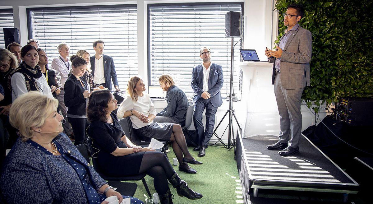 Daniel Kjørberg Siraj, konsernsjef i OBOS, er blant initiativtakerne til CoLab. Foto: Morten Bendiksen