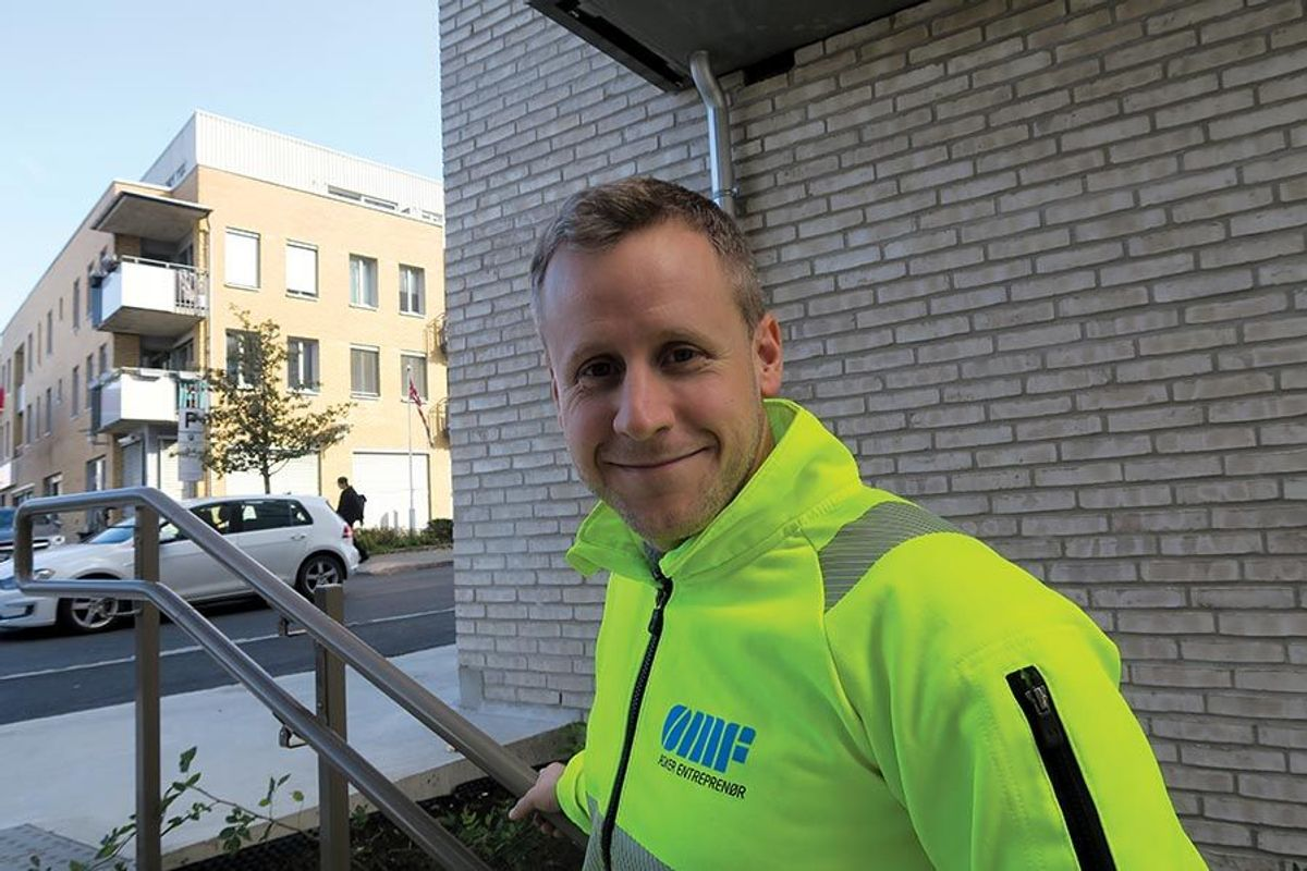 Prosjektleder Thomas Finstad i Asker Entreprenør AS kan se tilbake på et vel gjennomført prosjekt.