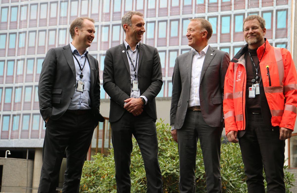 <p></p><p>Toppsjefene i AF, Skanska, Statsbygg og Veidekke fra venstre: Morten Grongstad, Ståle Rød, Harald V. Nikolaisen og Jimmy Bengtsson.</p>