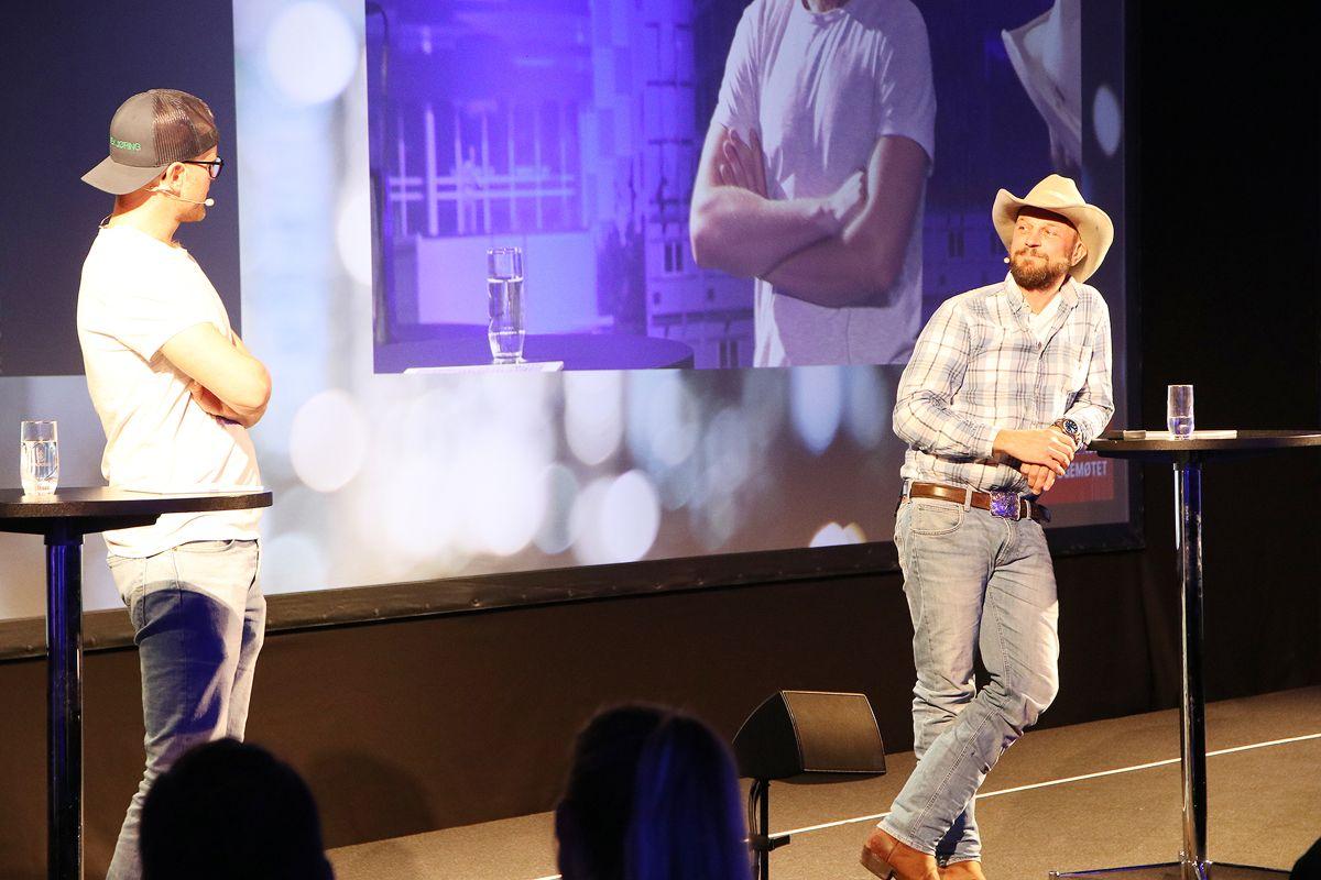 """Gustav og Ole fra tv-serien """"Eventyrlig oppussing"""" fortalte om sine opplevelser fra tv-innspillingene på Bygg Reis Deg lørdag."""
