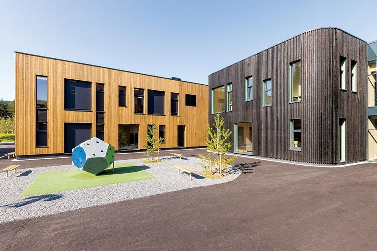 Etter en samspillsfase ble dette resultatet i fasader og uttrykk. Foto: SPINN Arkitekter.
