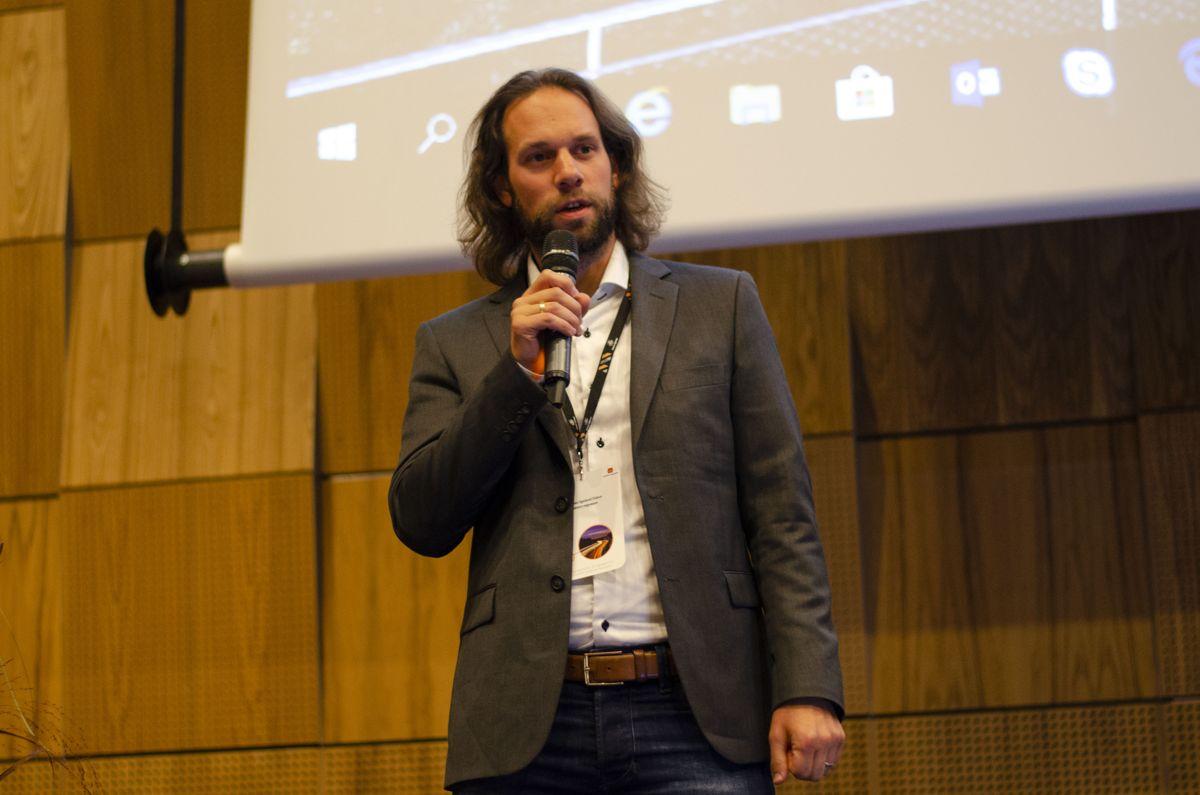Mathias Eidem i Statens vegvesen var møteleder for andre bolk på Norsk Betongdag 2019.