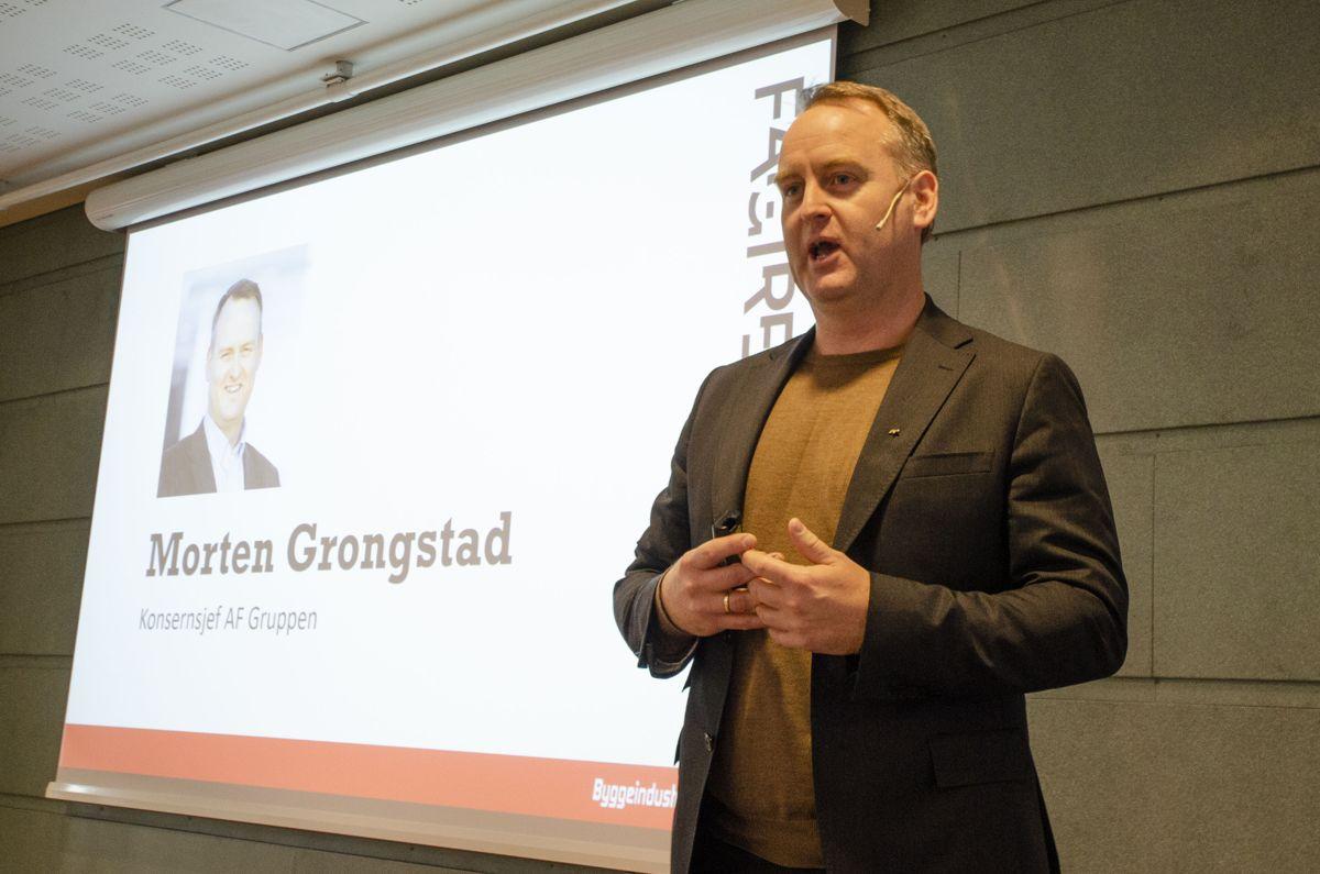 Morten Grongstad ga seg som konsernsjef i AF Gruppen i 2020. Arkivfoto.