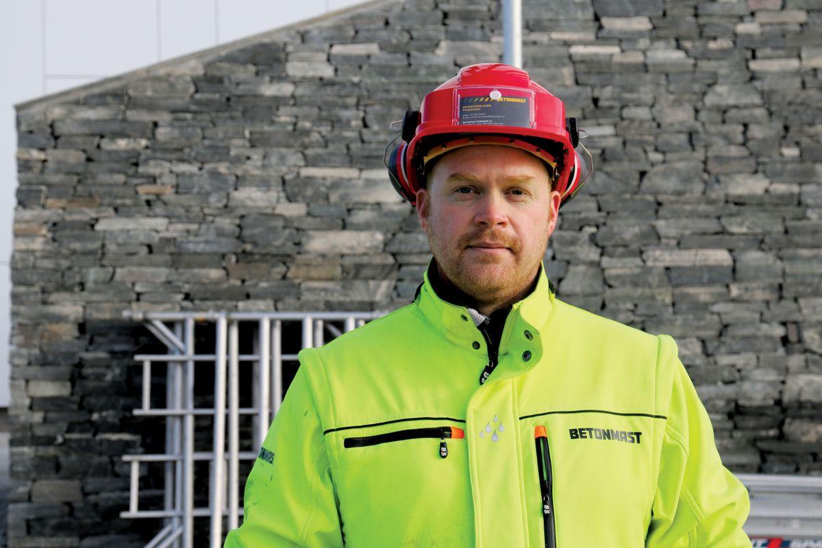 Prosjektleder Erlend Nicolaisen, Betonmast Romerike. Foto: Malin Strandberg