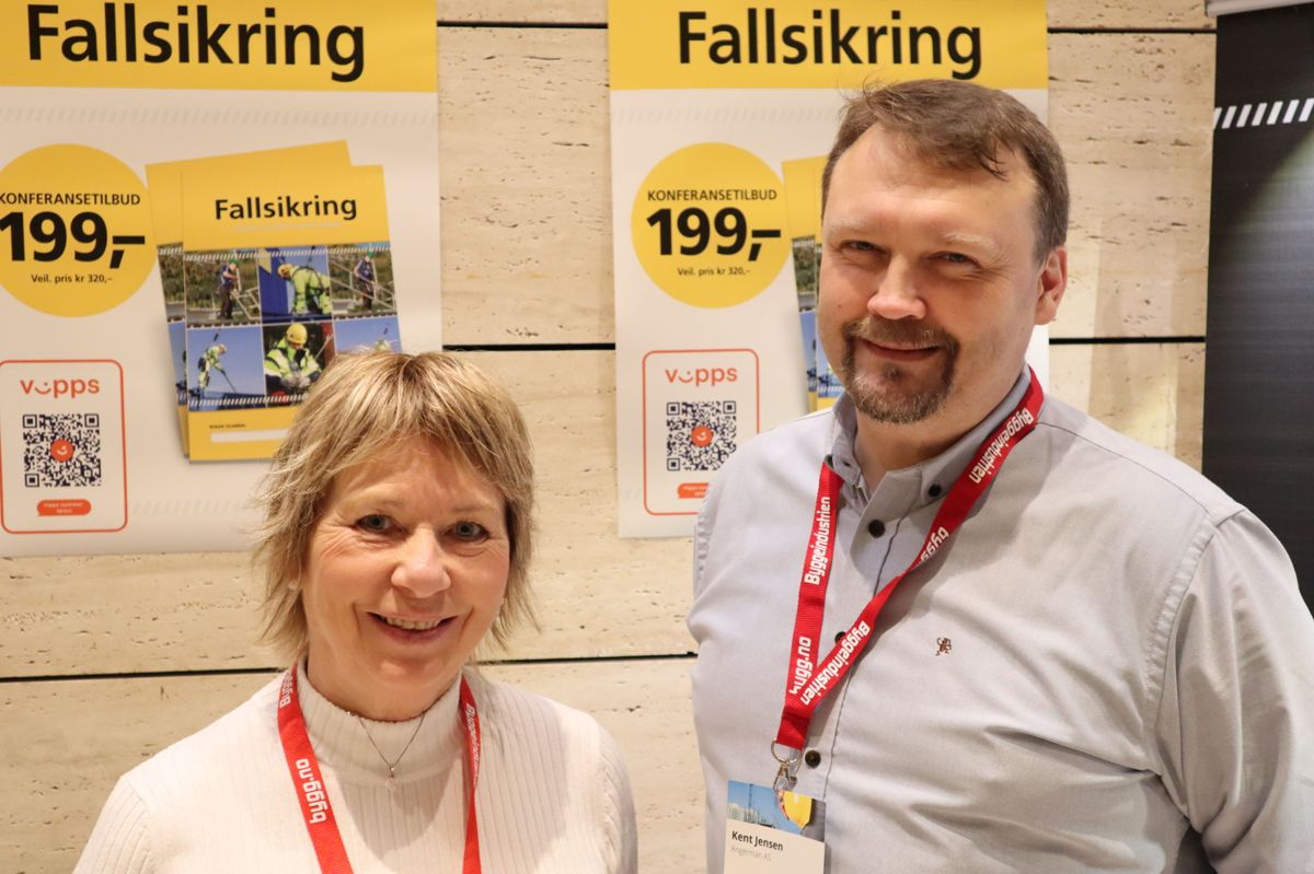 En ny bok om fallsikring ble presentert på HMS-konferansen 2019. Foto: Svanhild Blakstad