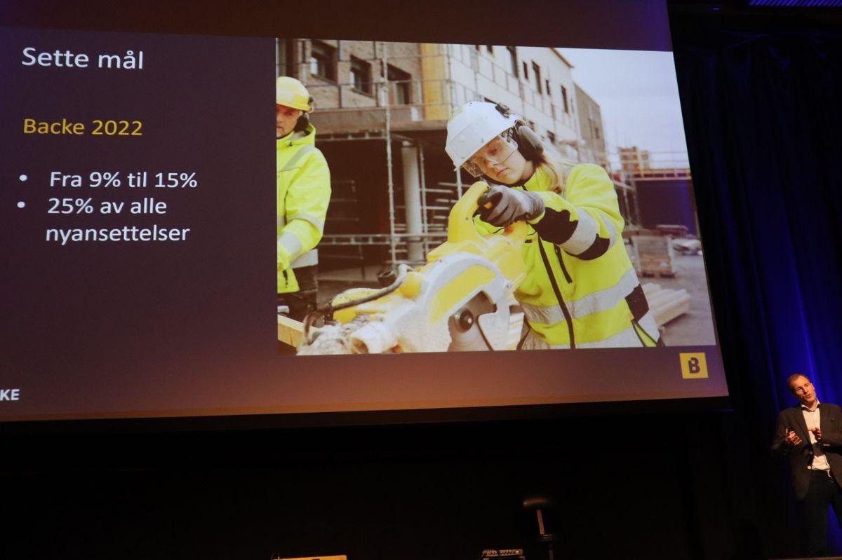 Konsernsjef Eirik Gjelsvik i Backe snakket om mangfold på arbeidsplassen. Foto: Svanhild Blakstad