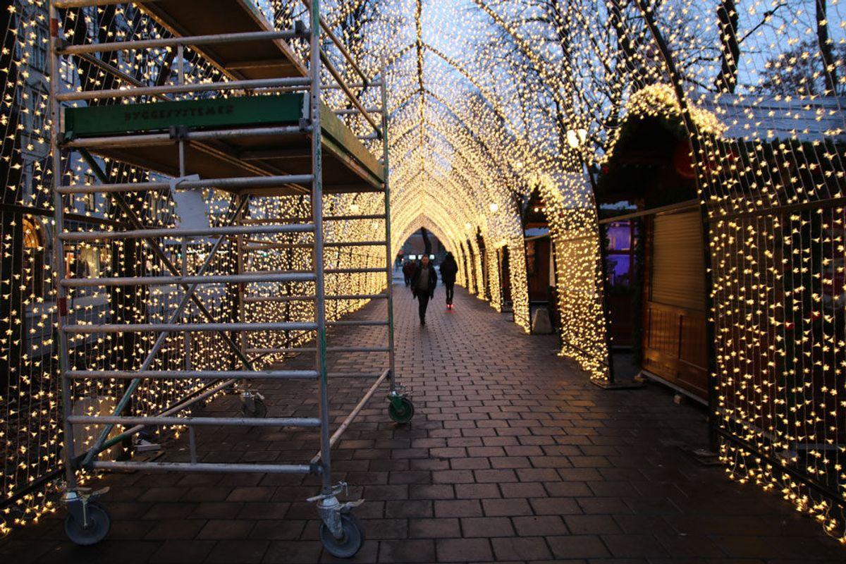 Tusenvis av LED-lys danner «Stjernehimmelen», som har blitt et populært instagrammotiv og er delt og spredt på ulike kanaler. Foto: Malin S. Strandberg