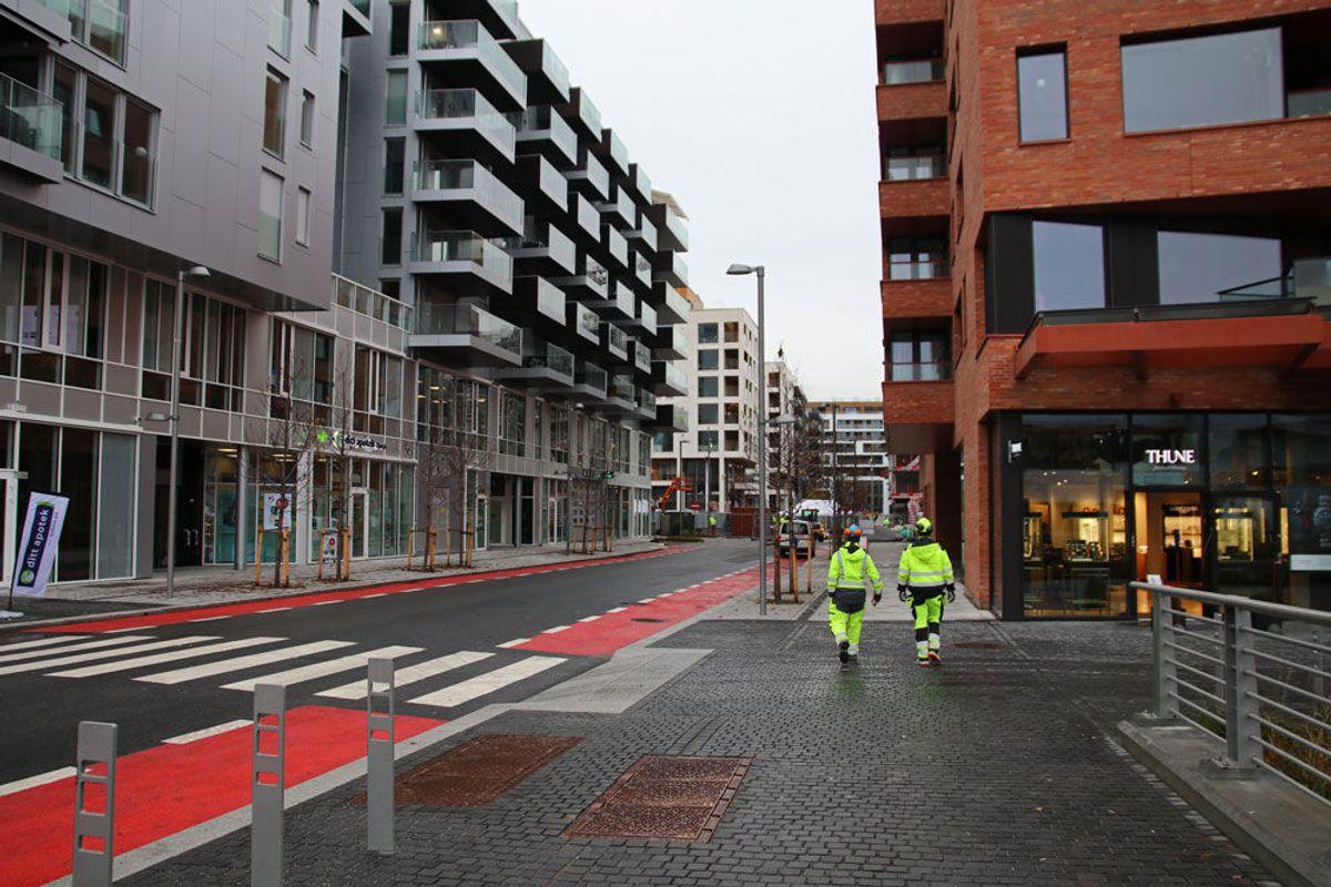 BISPEVIKA. For hver kvadratmeter som bygges, settes det av 2.500 kroner til utbygging av de offentlige rommene og teknisk infrastruktur, heter det på Bjørvika Utvikling sine nettsider. Foto: Malin S. Strandberg.