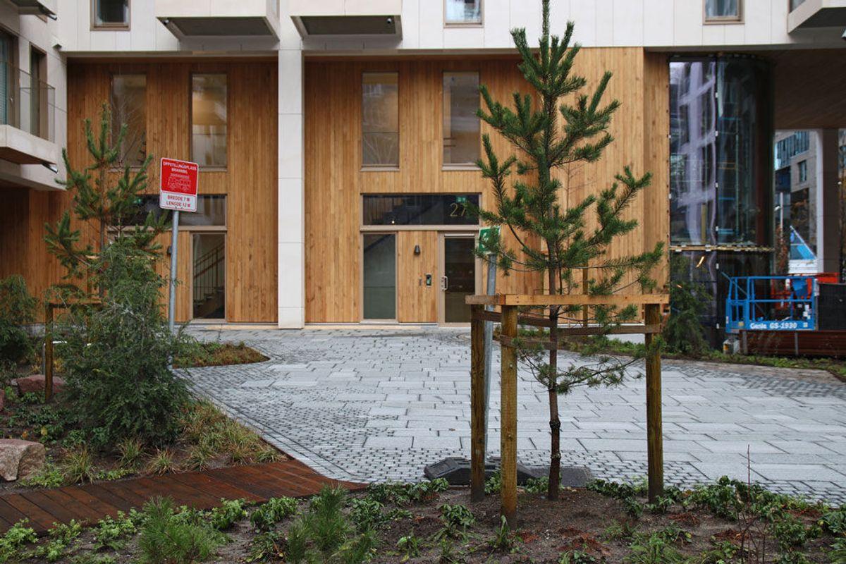 BISPEVIKA: Det bygges både boliger og næringsbygg i den nye bydelen de nærmeste årene, i regi av Oslo S Utvikling. Foto: Malin S. Strandberg.