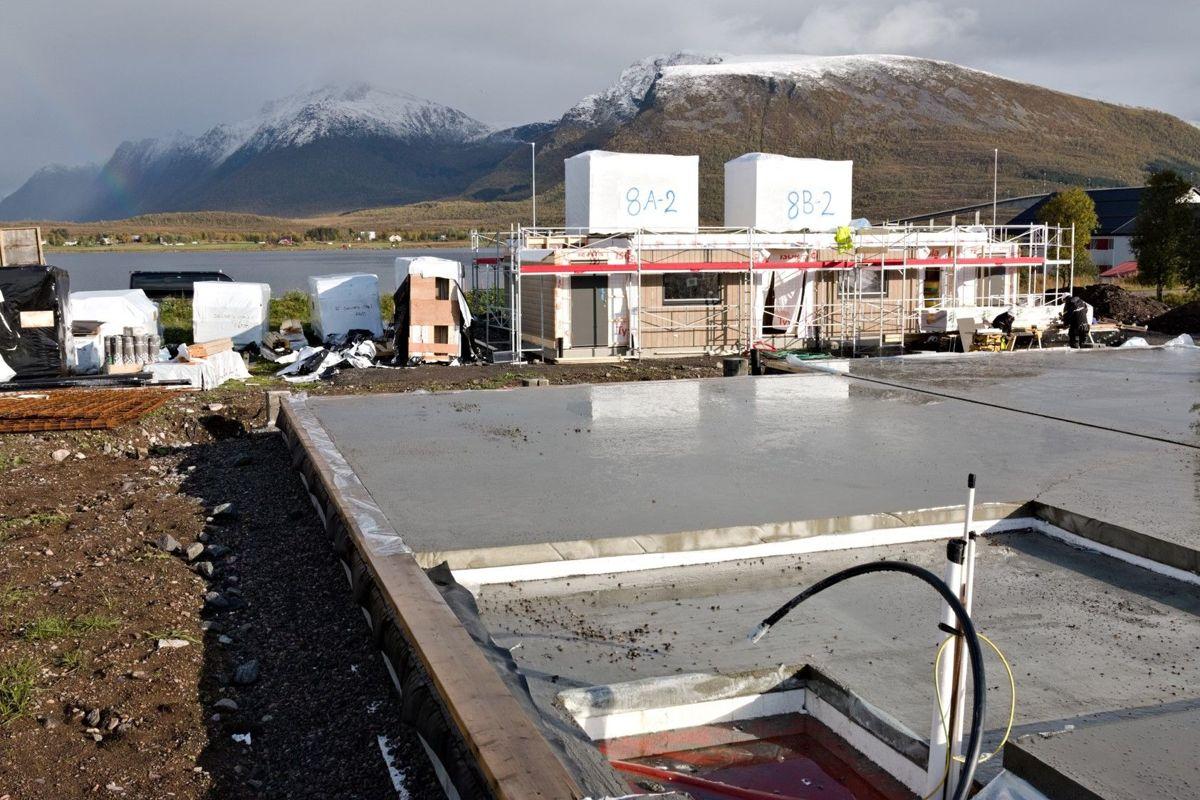 Selnes-elementer på byggeplassen. Foto: Systemhus