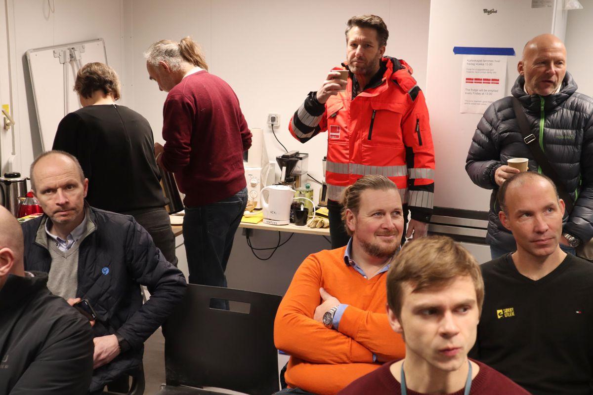 Fra Veidekkes frokostmøte om utslippsfrie byggeplasser. Foto: Svanhild Blakstad