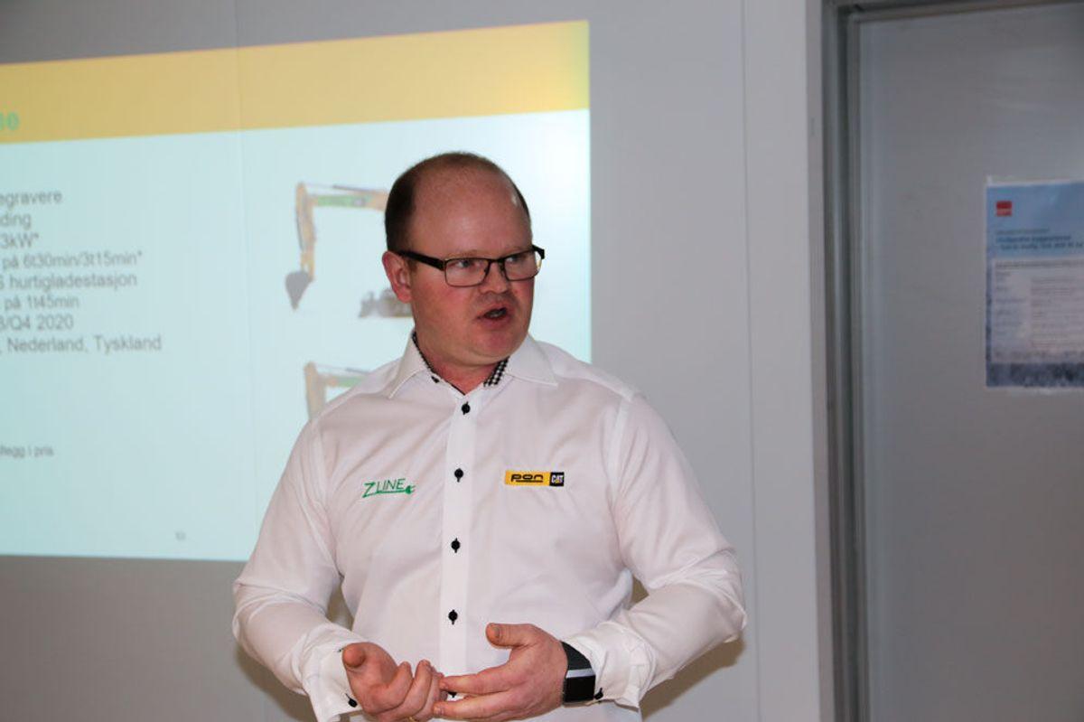 Servicedirektør Ole-Petter Holene, PON/CAT. Fra Veidekkes frokostseminar om utslippsfrie byggeplasser. Foto: Malin S. Strandberg.