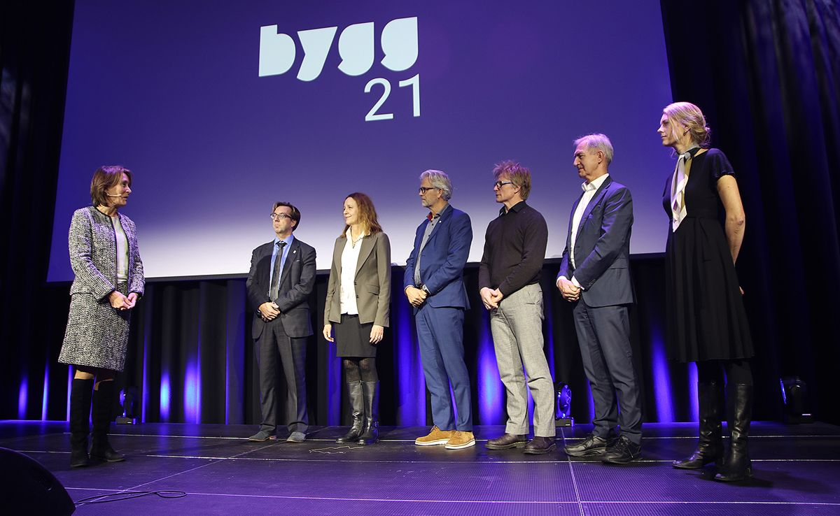 Ekspedisjonssjef Ann Ingeborg Hjetland takker aktørene som skal ta Bygg21-arbeidet videre.