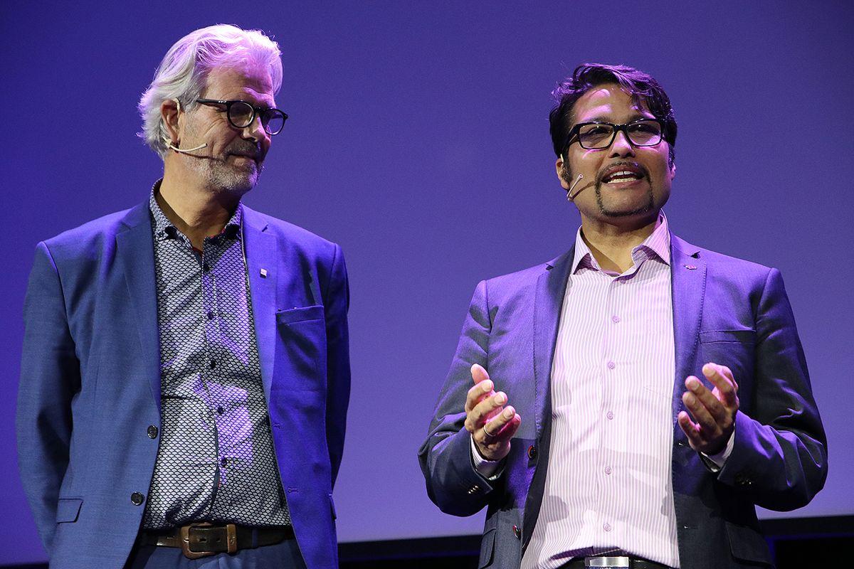 Jon Sandnes og Daniel Kjørberg Siraj.