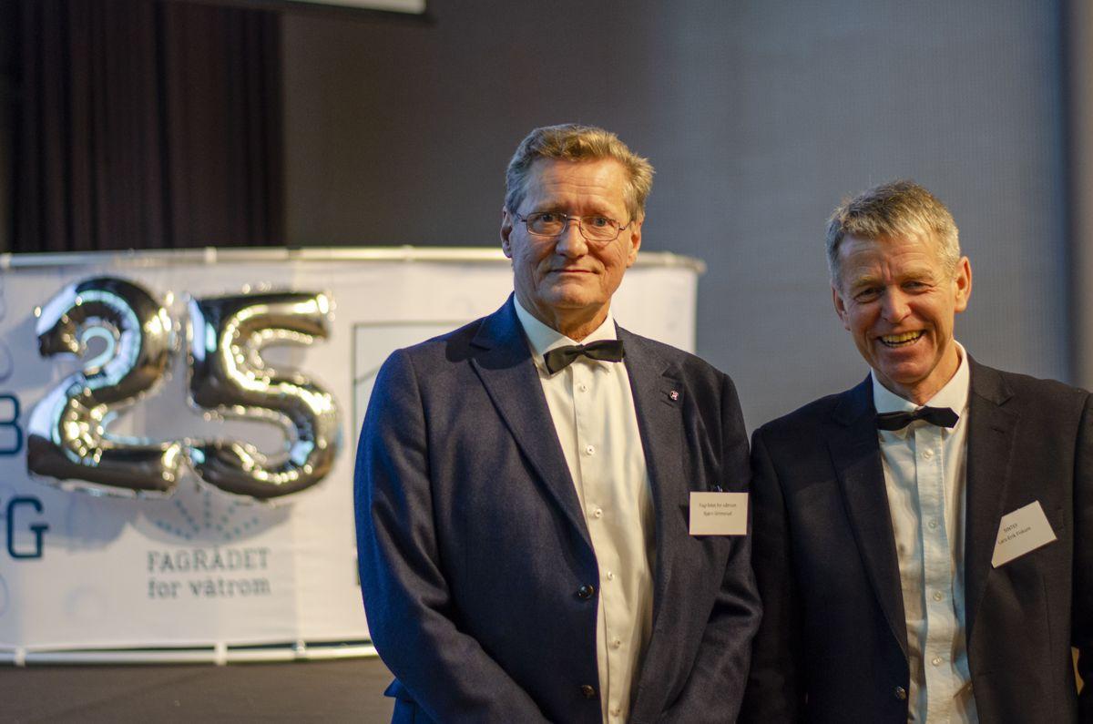 Bjørn Grimsrud (til venstre) og Lars-Erik Fiskum.