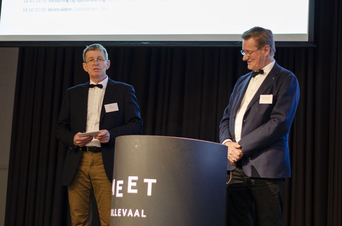 Lars-Erik Fiskum (til venstre) og Bjørn Grimsrud.