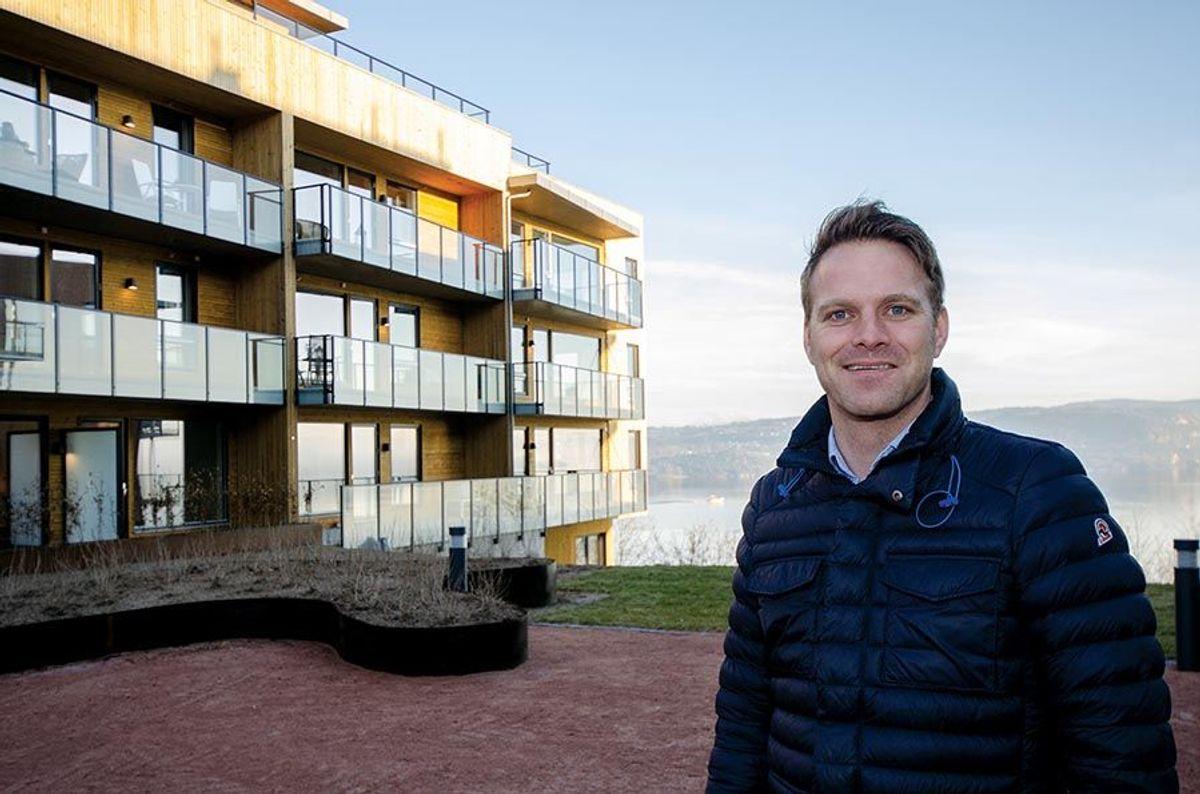 Byggherres prosjektleder Eivind Endresen er godt fornøyd med prosjektet.