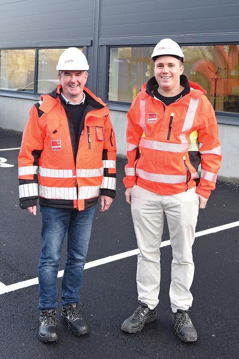 Prosjektleder Geir Morten Nordvik og driftsleder Marius Sæterbø i Vediekke Entreprenør.