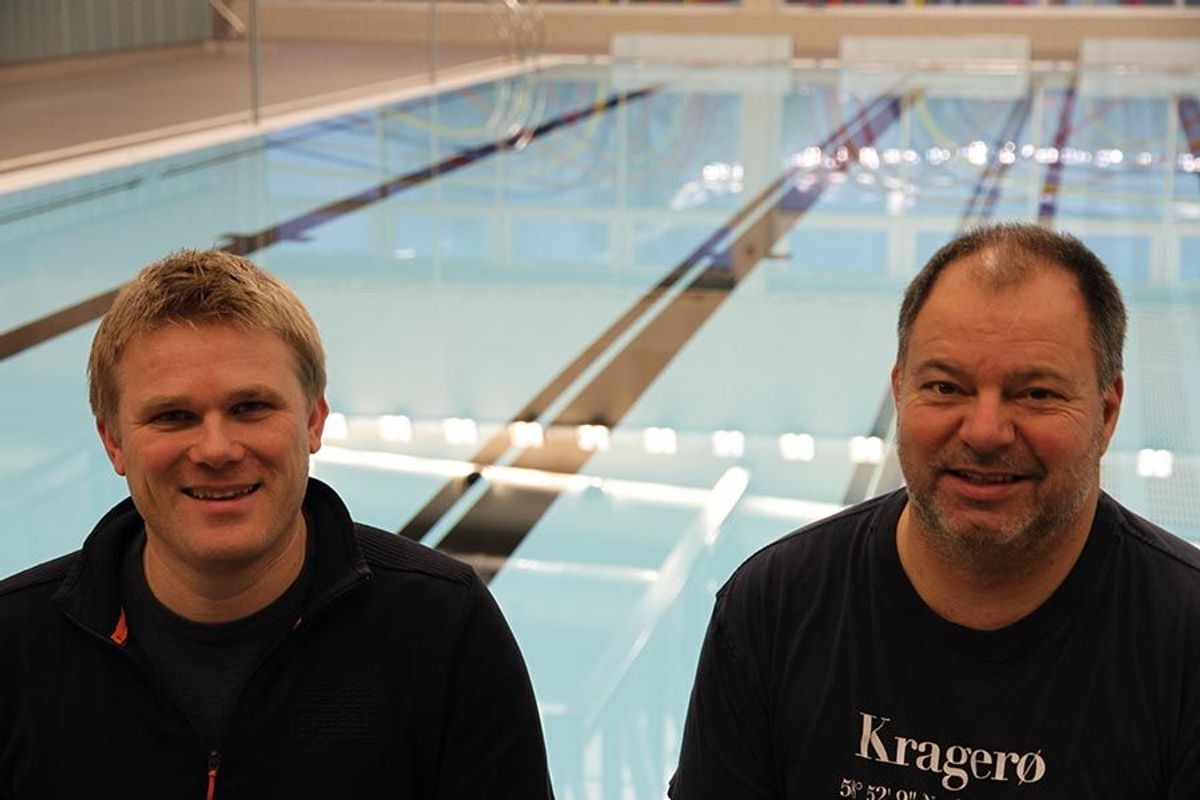 Anders Skarvang (til venstre) og Ove Bottolfs i Kruse Smith Entreprenør AS, har vært byggeledere i prosjektet.