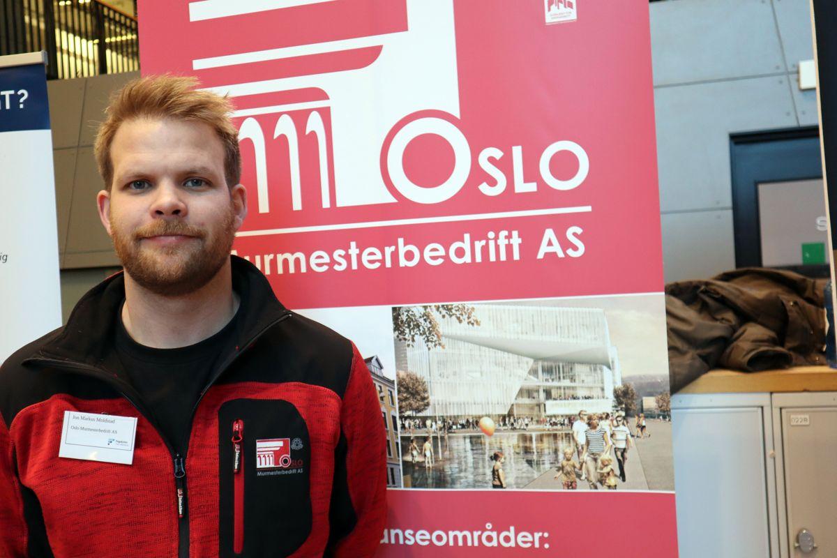Jon Markus Moldstad i Oslo Murmesterbedrift. Foto: Svanhild Blakstad