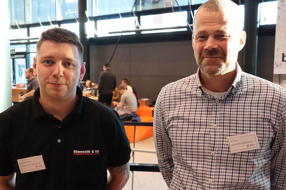 Stenseth & RS var en av bedriftene som møtte studentene på Fagskolen Oslo Akershus på Karrieredagen på Kuben yrkesarena. Her representert ved Daniel Pedersen og HR-sjef Jon Jevne. Foto: Svanhild Blakstad