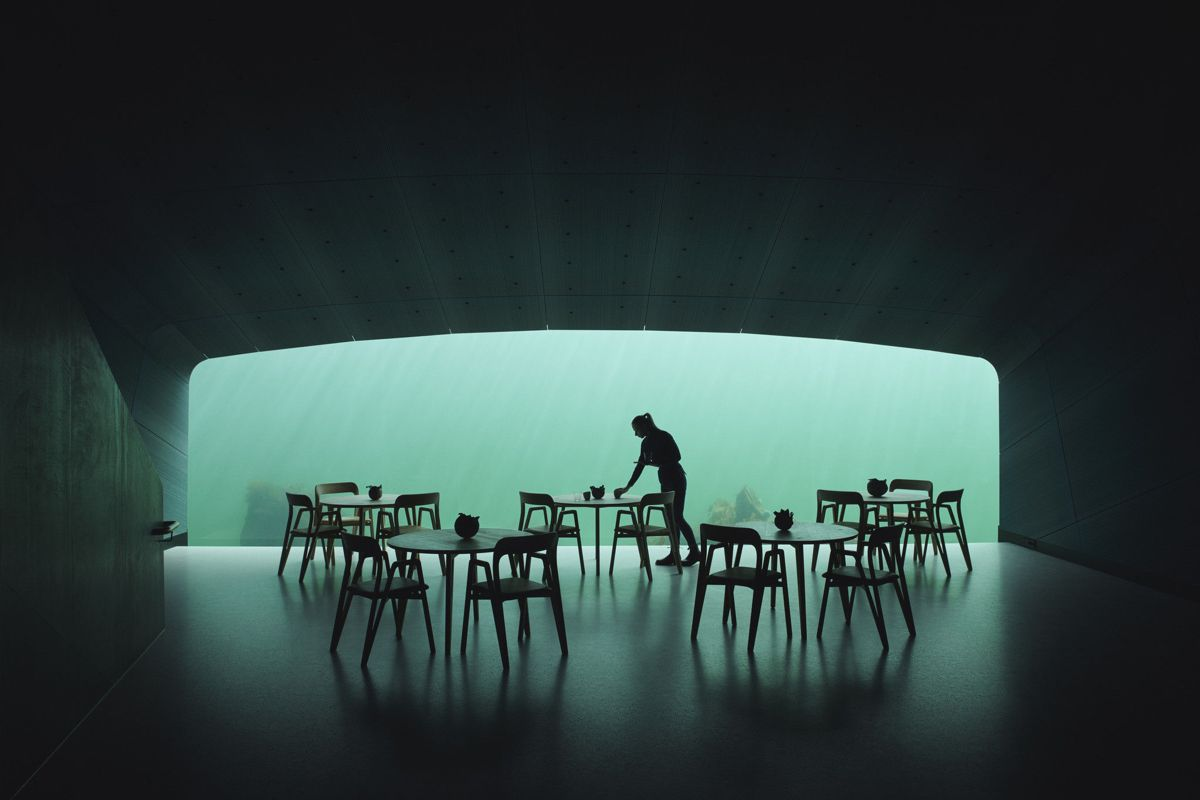 Lindesnes Havhotell får DOGA-merket for Under, Europas første undersjøiske restaurant. Foto: Ivar Kvaal