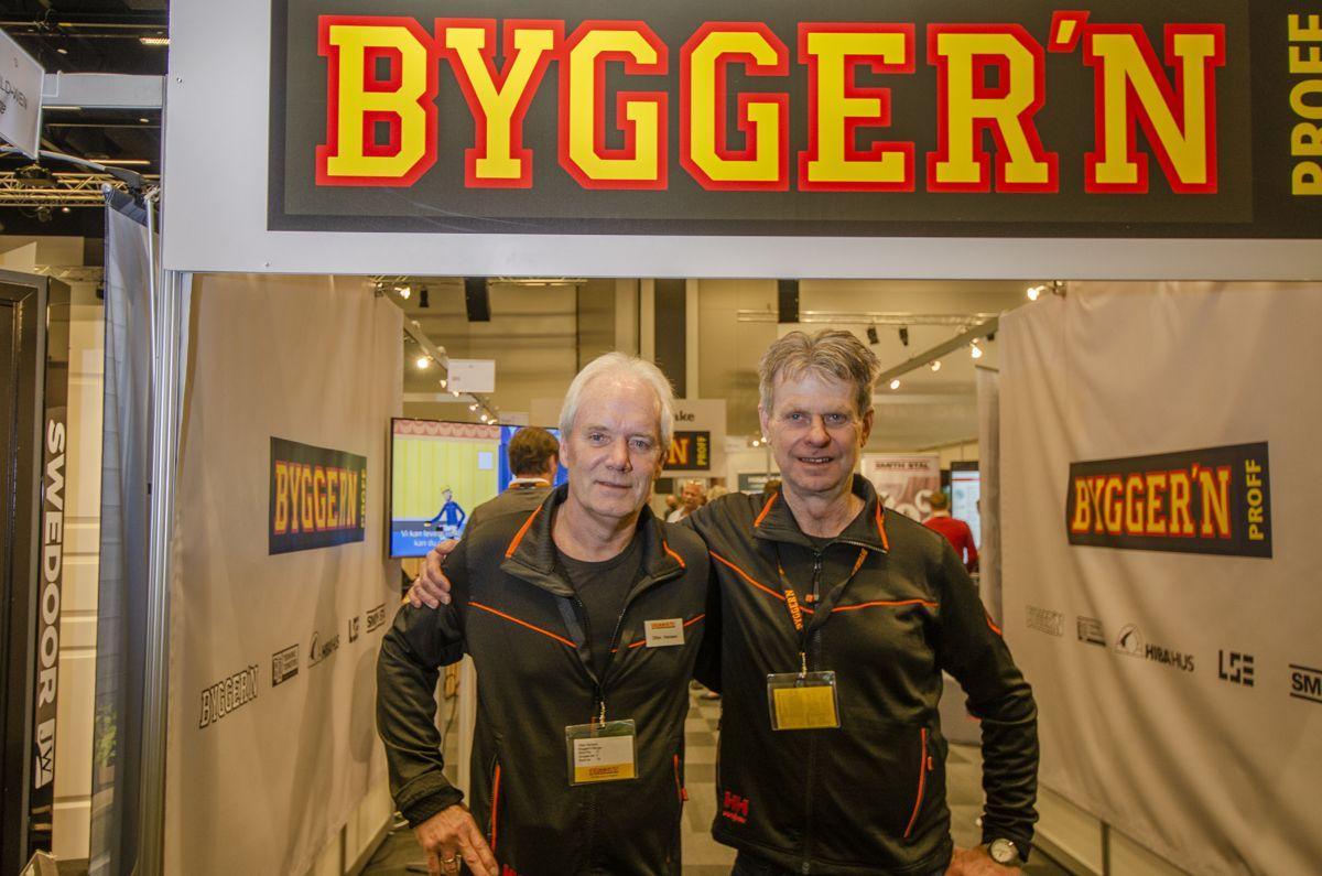 Markedssjef Ottar Hansen (til venstre) og kjededirektør Arnfinn Henriksen i Bygger'n.