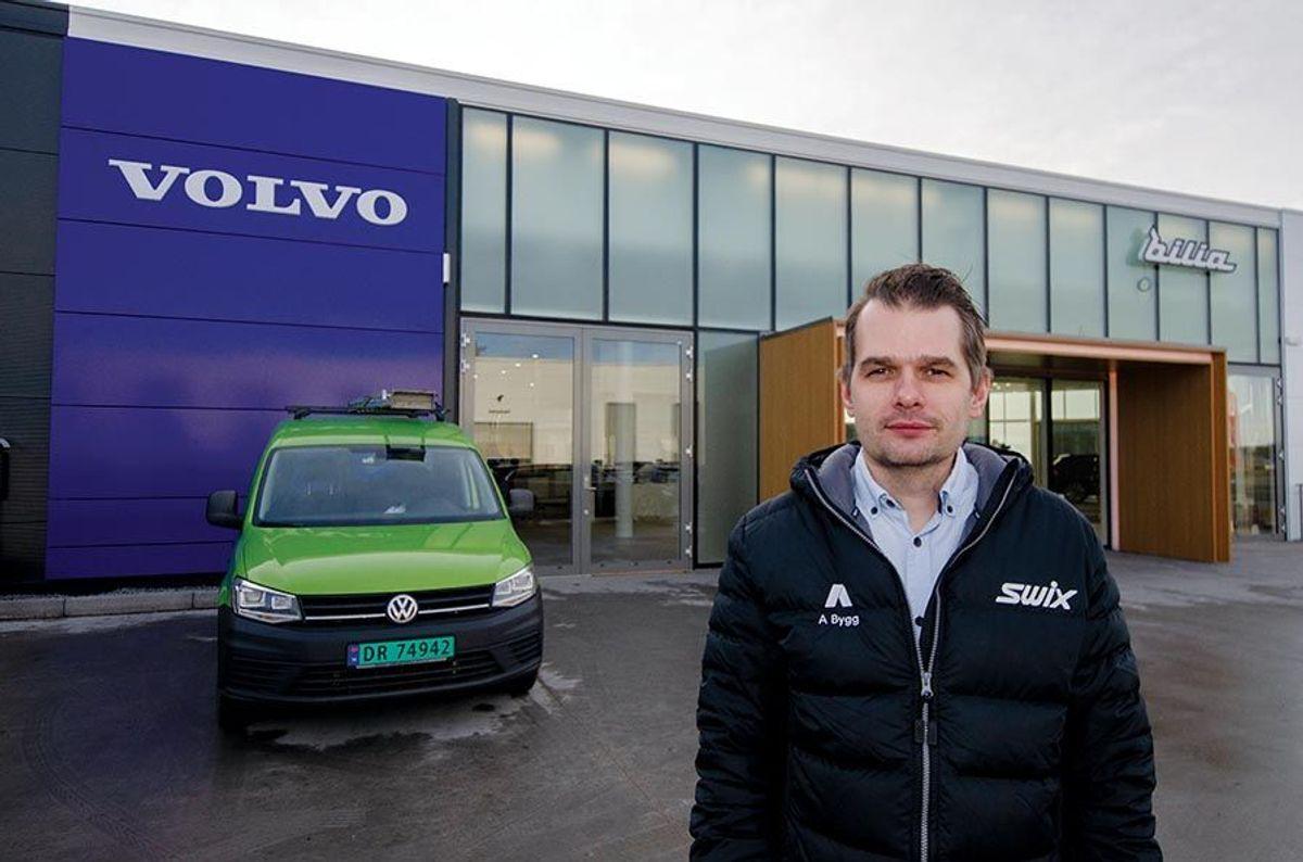 Prosjektleder Dan Hermansen hos A Bygg Entreprenør er godt fornøyd med Bilia Follo.