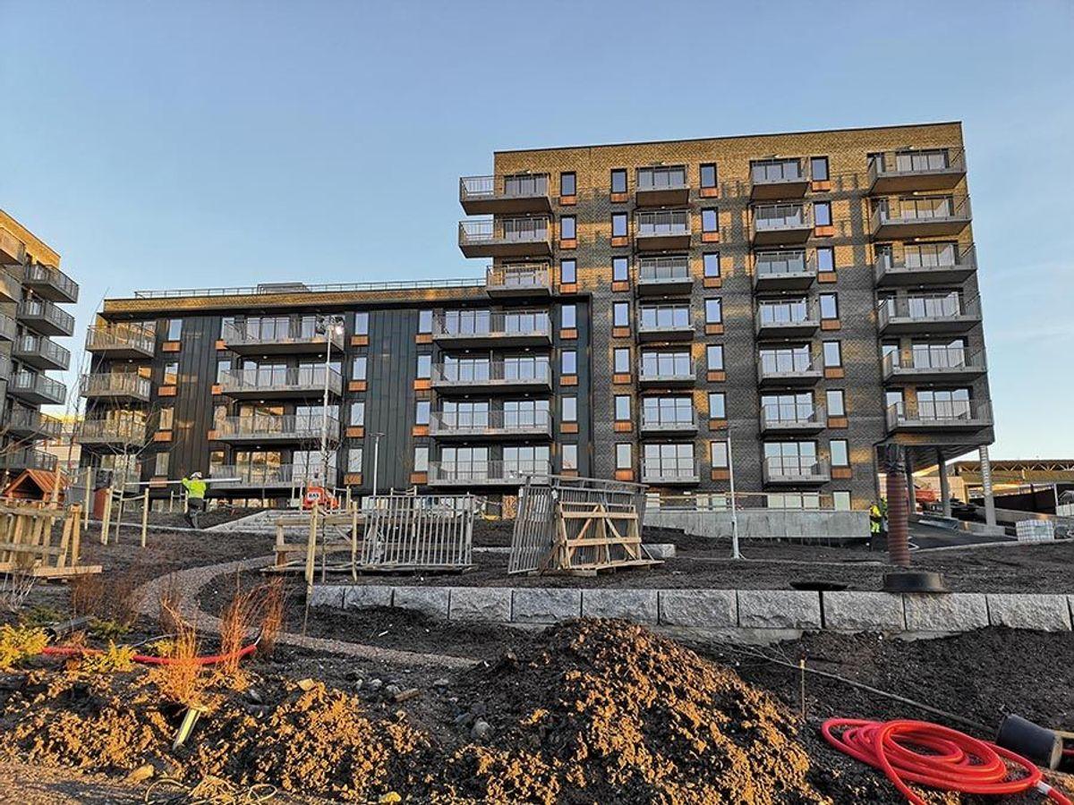 Det er Spor Arkitekter som har tegnet leilighetsprosjektet. Foto: Backe Stor-Oslo