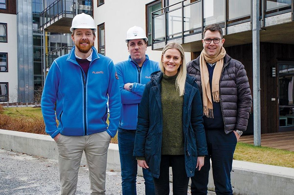 Ole-Kristian Sollie Eggen (fra venstre), Daniel Austli, Helene Mork og Sindre Juel Berg.
