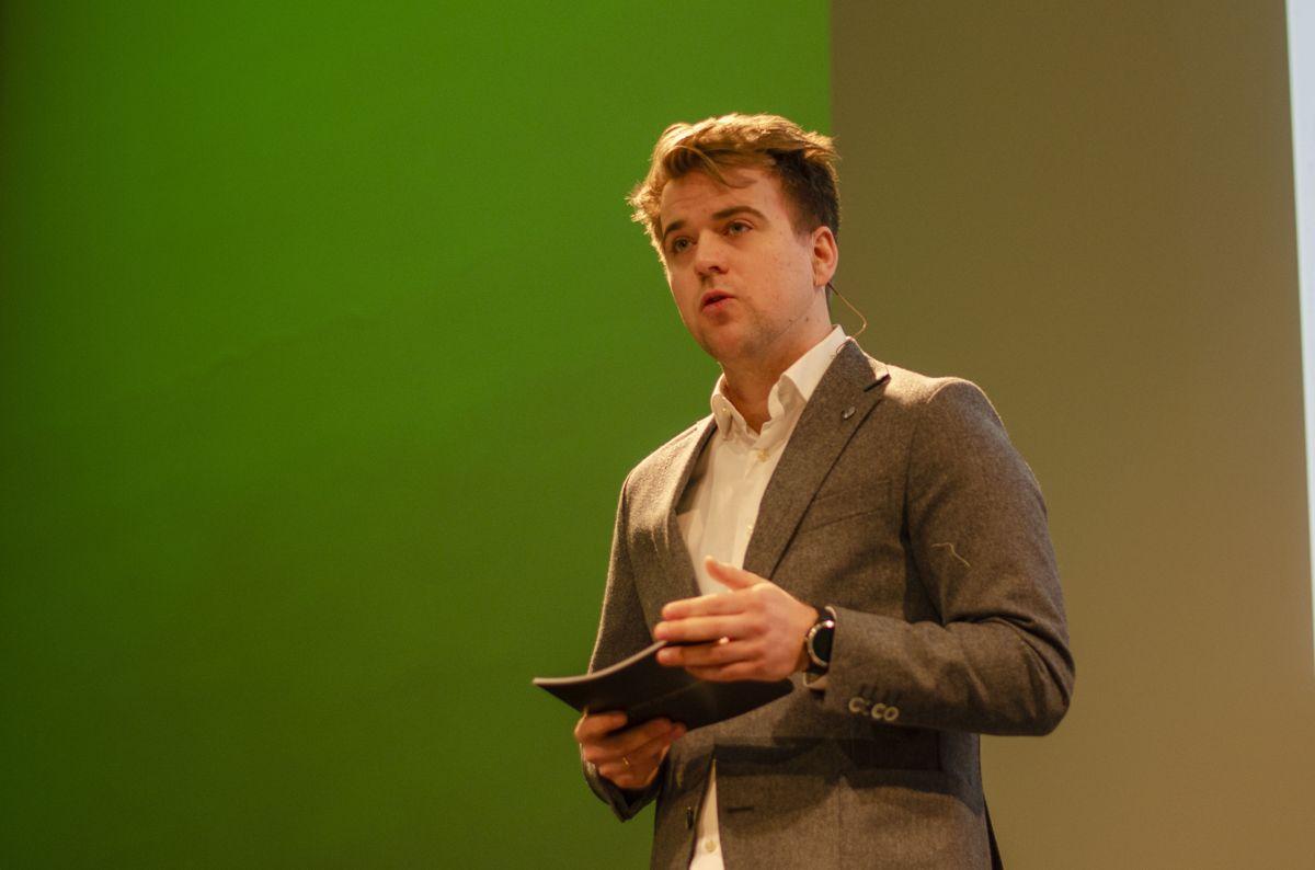 Statssekretær Mathias Fischer i Klima- og miljødepartementet (V).