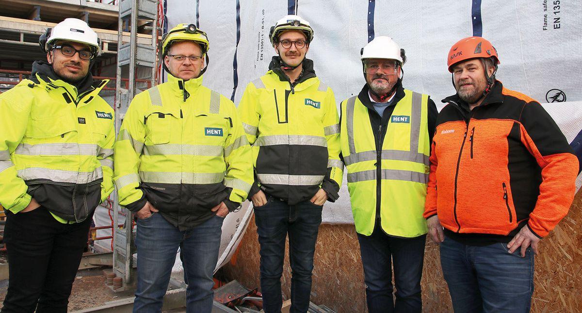 F.v. Arslan M. Irshad (NTNU), Peder Hammeren (HENT), Kasper Evensen (HENT), Mårten Hatteberg (Naboen) og Yngvar Dalen (Naboen).