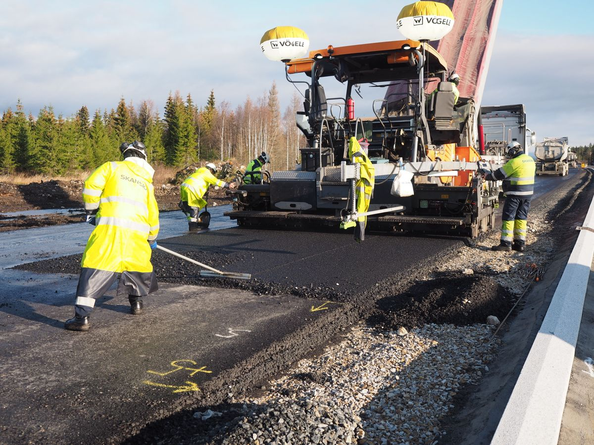 OPS-prosjektet riksvei 3/25 oktober 2019. Foto: Jørn Hindklev