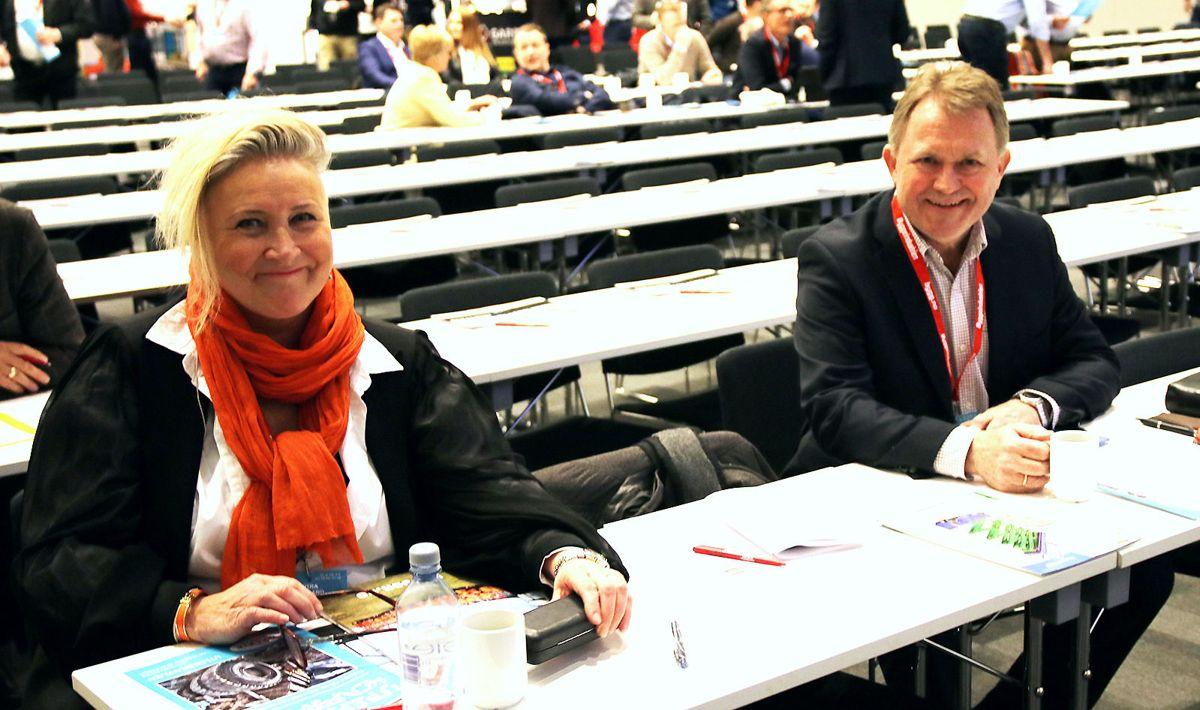 Styreleder Nina Aasland og daglig leder Yngve Torkildsen i Norsk Utleieforening.
