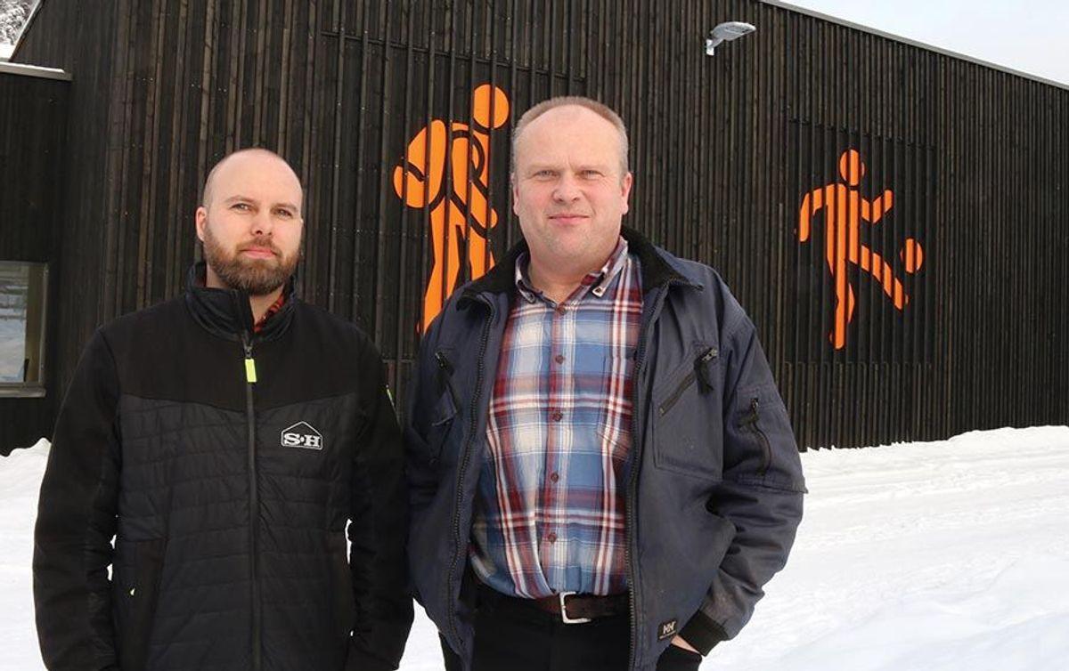 Prosjektleder Petter Remmen Johansen i Sanne Hauglid og prosjektleder Oddleiv Juvkam i Sør-Aurdal kommune har samarbeidet godt i prosjektet.
