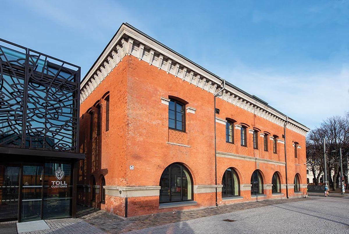 Tollbodene i Oslo, Rehabilitering og nybygg kontorbygg, fotodato 3.2.2020. Byggherre: Entra ASA / Aberdeen Eiendomsforvaltning AS Hovedentreprenør: Varden Entreprenør AS Arkitekt: KIMA Arkitektur AS