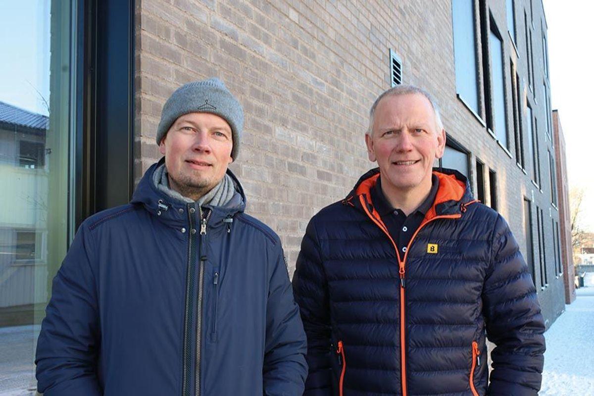 Prosjektleder Sten Gunnar Torseter i DRIV Prosjektstyring og prosjektleder Ola Elling Øien i Martin M. Bakken, har ledet prosjektet på vegne av byggherre og entreprenør.
