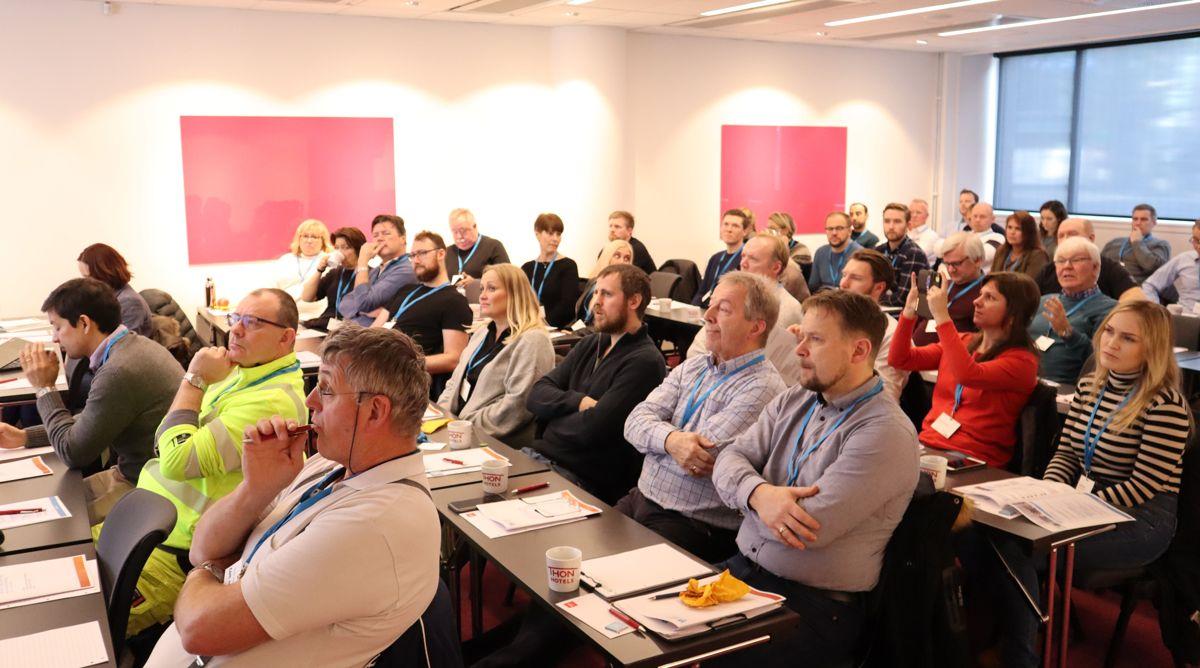 Det var stor interesse for det sjette SLBA-forum i regi av Kranteknisk forening. Foto: Svanhild Blakstad