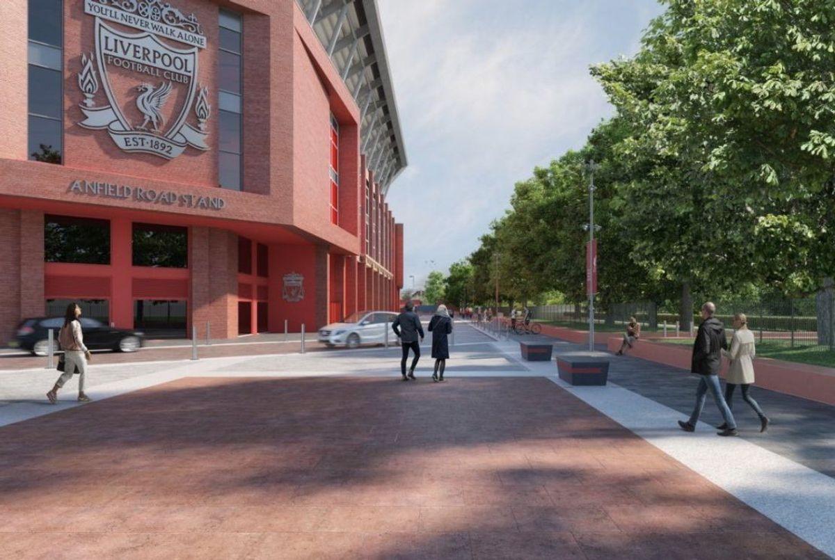 Liverpool har kommet et steg videre i arbeidet med ny utvidelse av stadion. Illustrasjon: Liverpoolfc.com