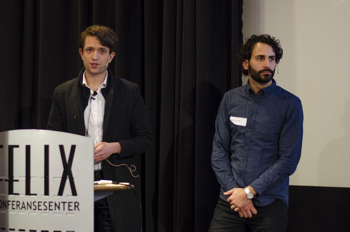 Dimitrie Stefanescu (til venstre) og Matteo Cominetti var begge med på å grunnlegge selskapet Speckle.