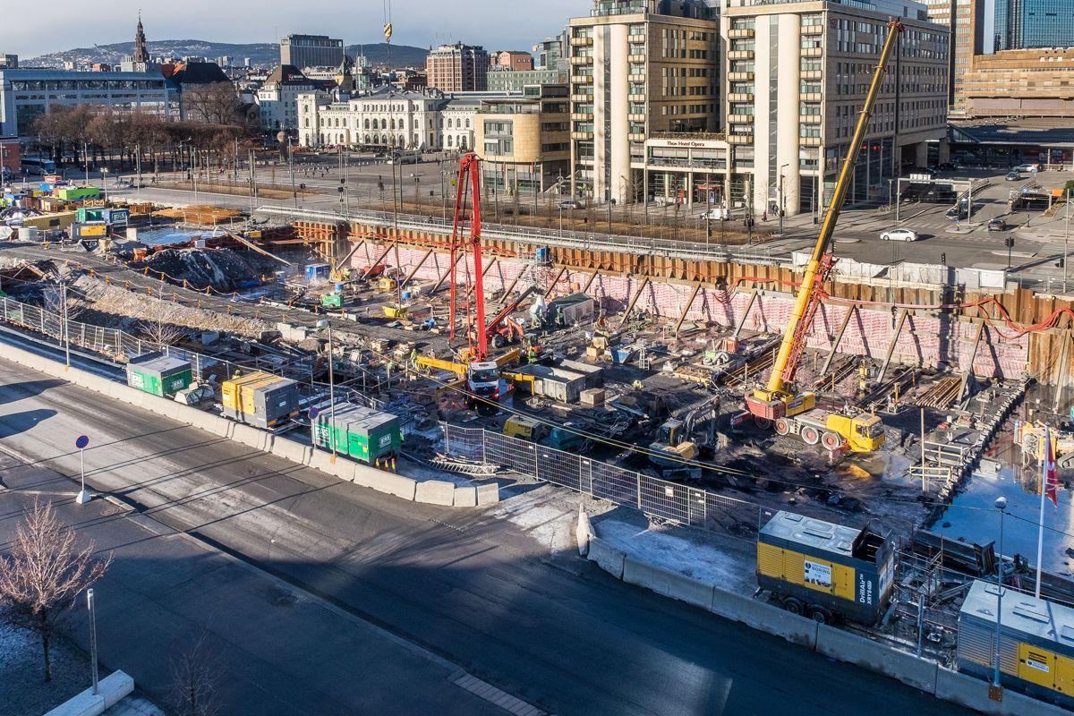 Byggegropen våren 2016. Foto: Tove Lauluten