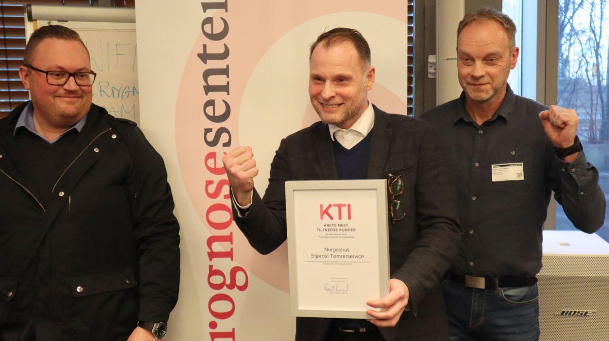 Forhandleren Norgeshus Stjørdal Tømrerservice gikk helt til topps med en toppscore på 100 KTI i EAT-markedet. Foto: Svanhild Blakstad