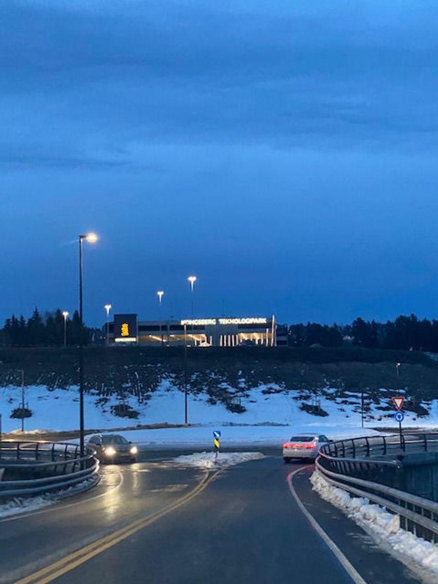 Ny innkjørsel mot Teknologiparken fra Steglet. Foto: Kjell Wold/Statens vegvesen