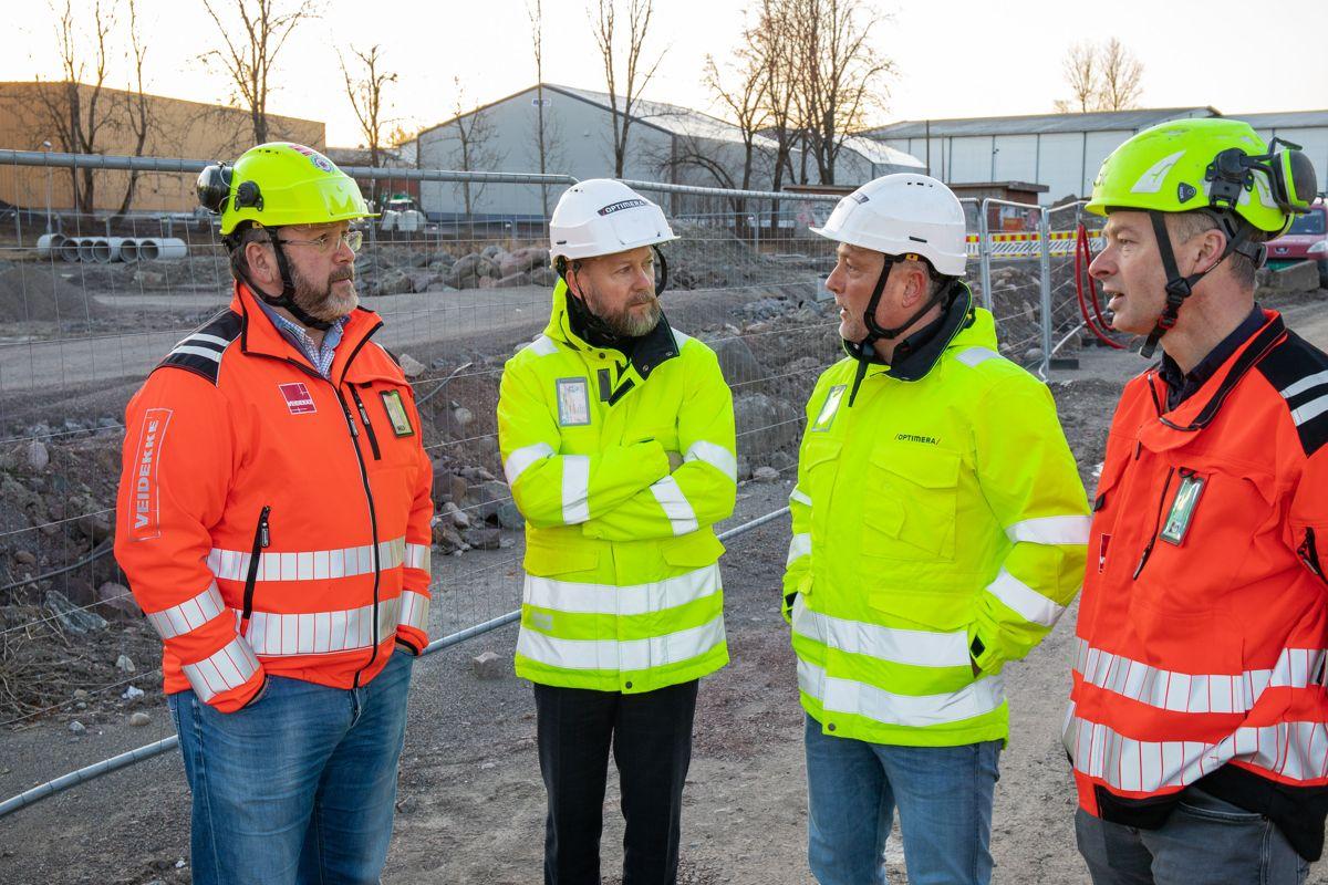 Steinar Andersen (fra venstre), Morten Thue, Thomas Schøyen og Ole Jakob Nes. Foto: Optimera