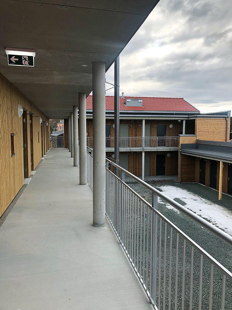 Det er lagt vekt på vedlikeholdsvennlige og robuste materialer i hele konstruksjonen. Foto: Marianne Røstadli