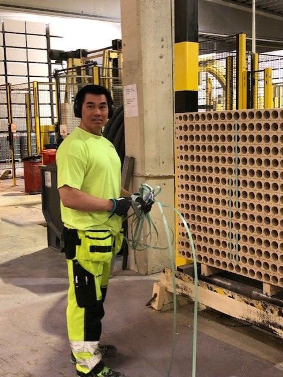 Thinh Schøne er fortsatt i full jobb på Norgips