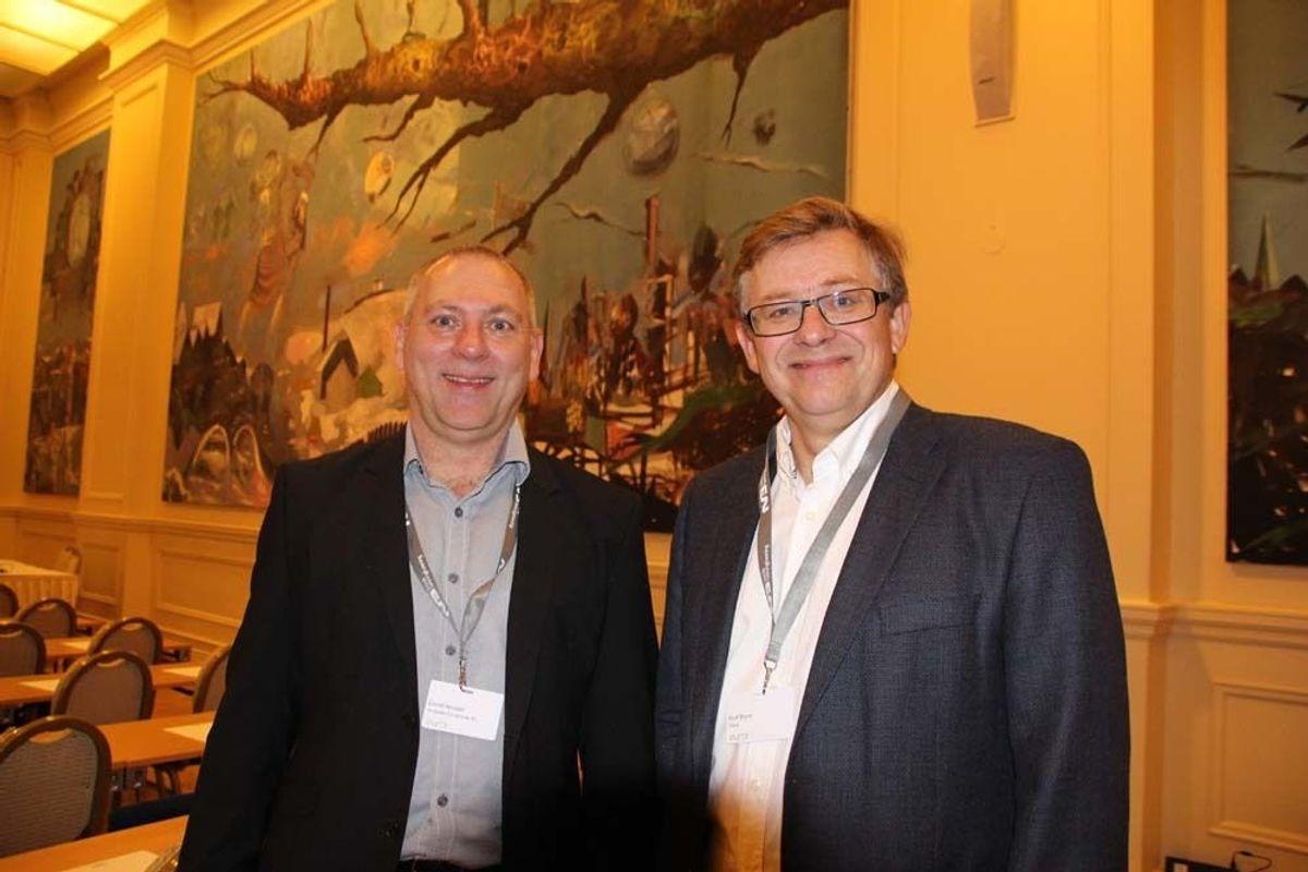 Eivind Heimdal (til venstre) og Knut Bryne er to sentrale aktører i forbindelse med Norsk Betongdag.