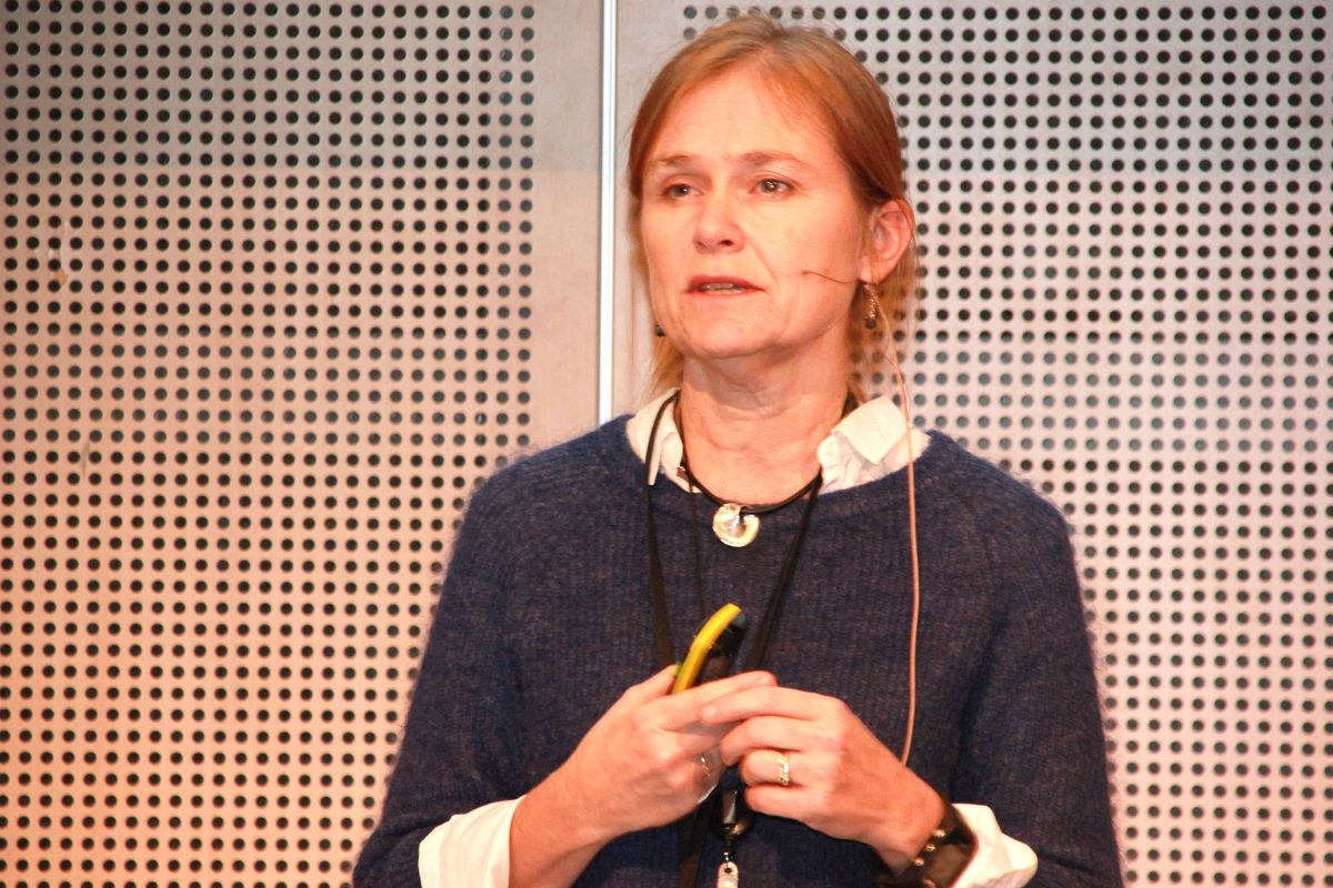 Teknologianalytiker Monica Havskjold i Statkraft på Zerokonferansen 2015. (Foto: Svanhild Blakstad)
