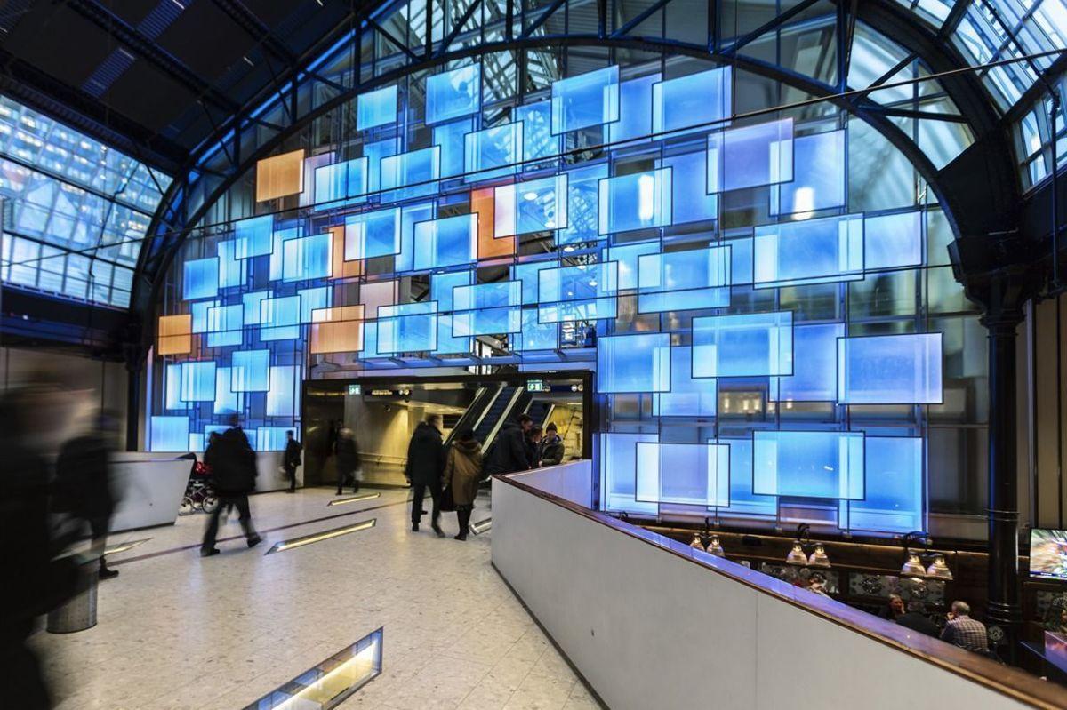 Østbanehallen i Oslo er nominert i kategorien Beste innendørsprosjekt. Foto: ÅF Lighting